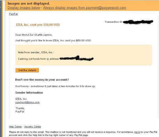 Email Yang Pantas Masuk Setelah Withdraw dari Payperpost