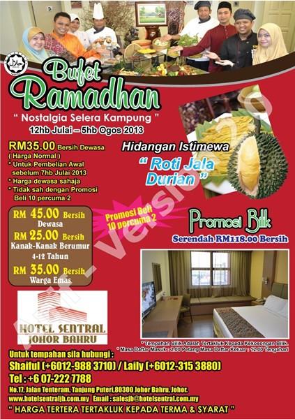 Buffet Ramadan 2013 - Hotel Sentral Johor Bahru